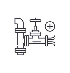 pipeline line icon concept pipeline linear vector image