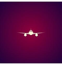 Plane icon Flat design style vector image