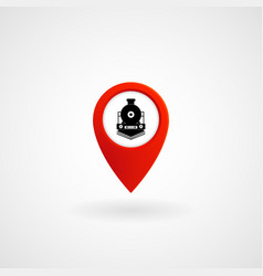 red location icon for train station eps file vector image