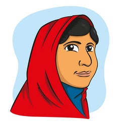 Representing girl with hijab arabic vector
