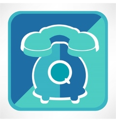 Retro telephone web icon vector image