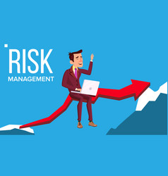 risk management businessman sitting with vector image