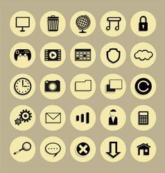 Round icon vector image vector image
