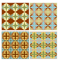 Sampler with nostalgic retro patterns tile vector