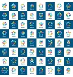 set logos union people vector image