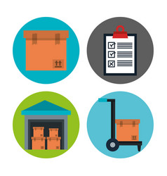 shipping logistics design vector image