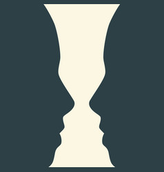 silhouettes of two head vector image