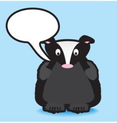 Speech badger vector