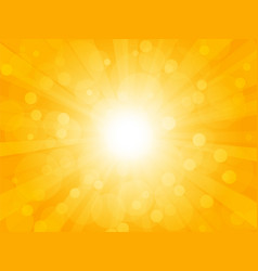 summer brightly background with rays vector image