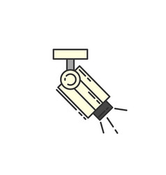 Surveillance camera flat icon sign for vector