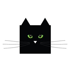sweet and cute black cat vector image