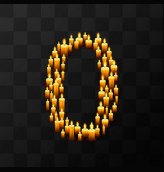 tribulation numbers 0 of candles vector image