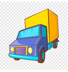 truck delivery icon in cartoon style vector image
