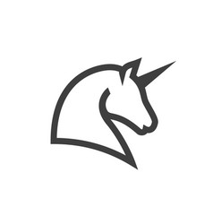 unicorn line icon images vector image