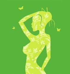 women floral vector image