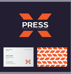X letter express logistic company logo vector