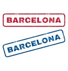 Barcelona Rubber Stamps vector image vector image