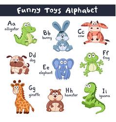 cartoon animals alphabet vector image