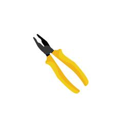 color pliers tool icon vector image