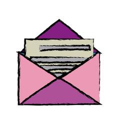 envelope mail message postal letter vector image vector image