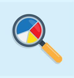 marketing data analytics with magnifying glass vector image