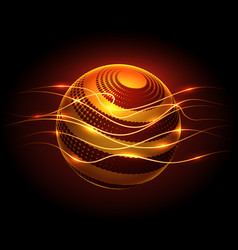 power energy sphere and lights flaws vector image vector image