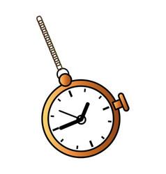 retro pocket watch icon vector image