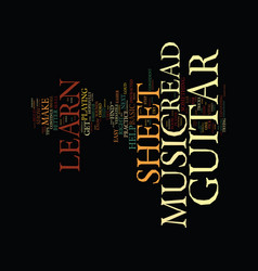 you can learn to read guitar sheet music text vector image vector image