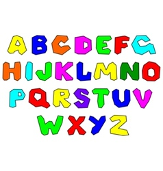 colorfull alphabet vector image