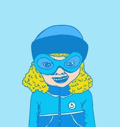 Cute cartoon people woman vector image
