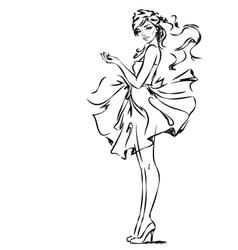 Girl in Dress vector image vector image
