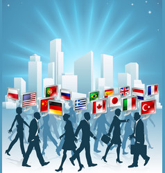 international business concept vector image vector image