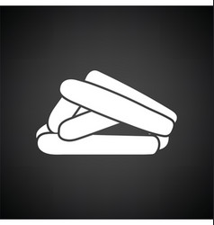 Sausages icon vector image