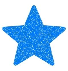 Star Grainy Texture Icon vector image vector image