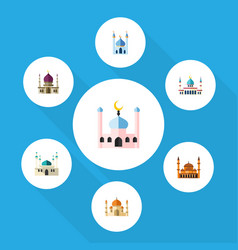 flat icon minaret set of architecture religion vector image vector image