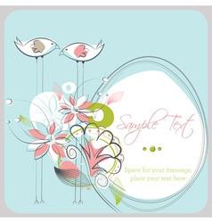 Love Birds Copy Space vector image