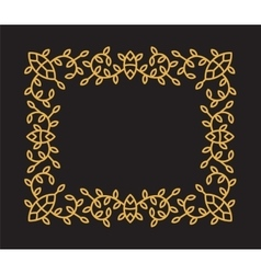 Monogram frame in trendy mono line style vector image vector image