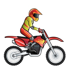 Motorcross rider vector