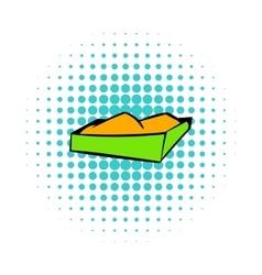 Sandbox on a playground icon comics style vector image vector image
