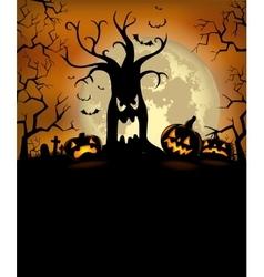 Halloween silhouette background vector