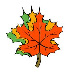 maple leaves icon cartoon vector image
