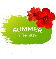 Summer Flowers Poster vector image vector image