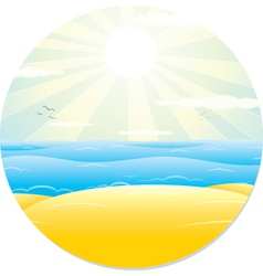 Summer Tropical Landscape vector image