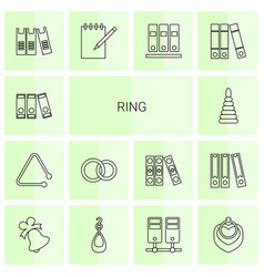 14 ring icons vector