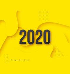 2020 3d new year vector image