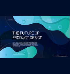 Abstract trendy landing page design vector