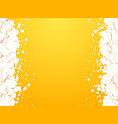 abstract white bubbles on yellow background vector image