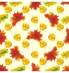 Autumn leaves seamless nature pattern background vector
