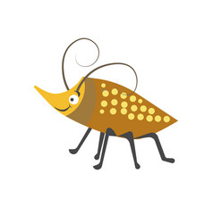 Beetle with spots on shell and long curled vector