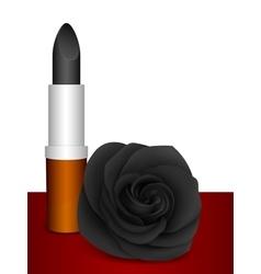 Black lipstick black rose vector image